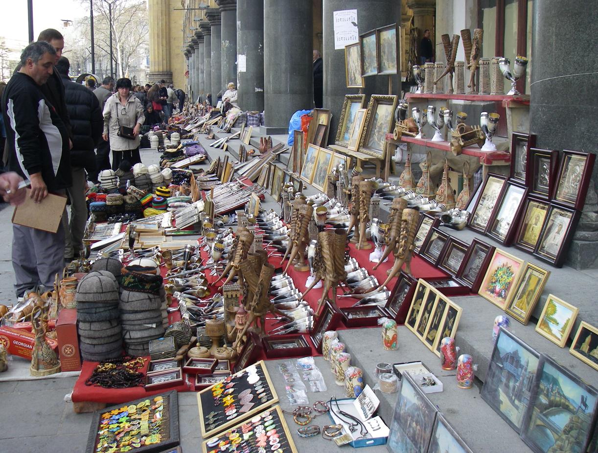 Suvernirer til salgs i Tbilisi.