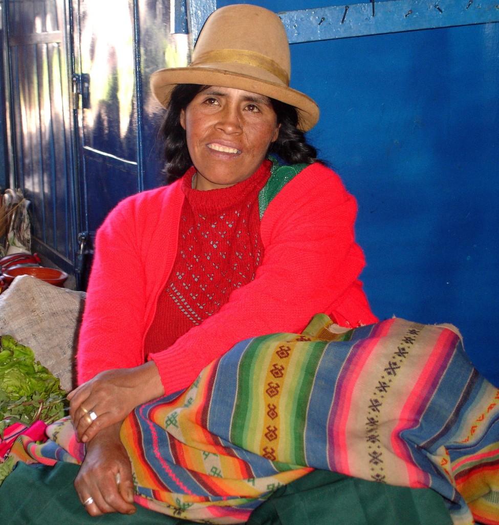 Mercados colorados... Innendørs matmarked i Cusco.