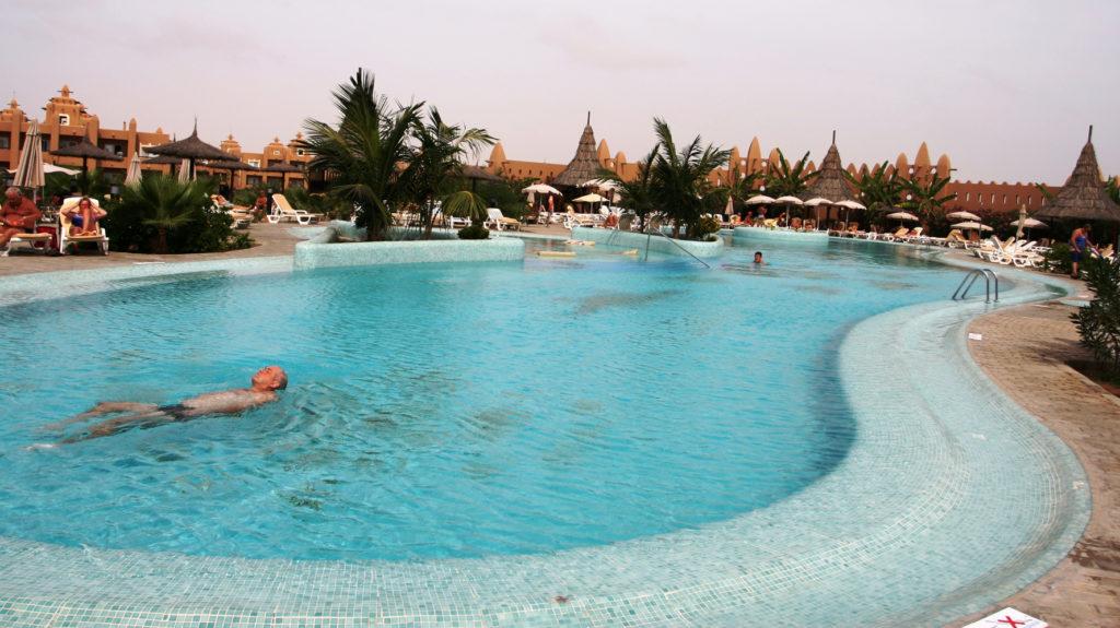 All inclusivehotellet Riu er bygget som et ørkenslott fra 1001 natt.