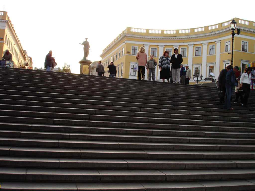 Potyomkinskaya- trappene med 192 trinn.