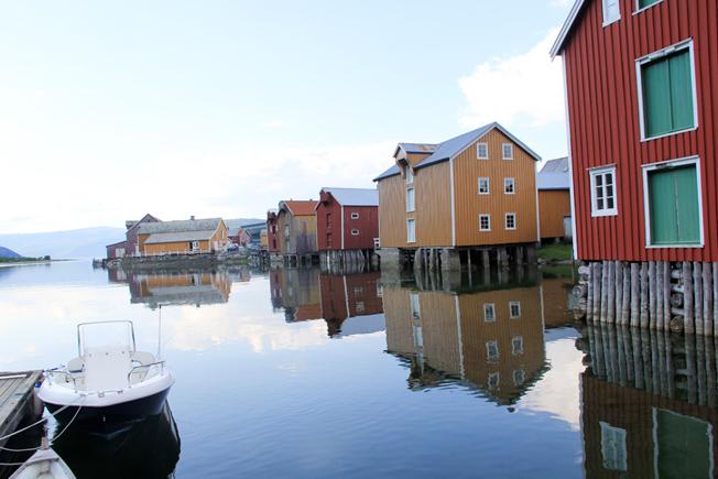 Mosjøens gamle bebyggelse.
