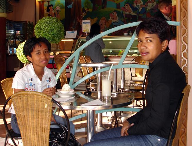 Ando og Miora på Blanche Neige i Tana
