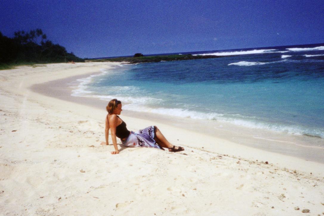 Det er god plass på strendene på Vanuatu.