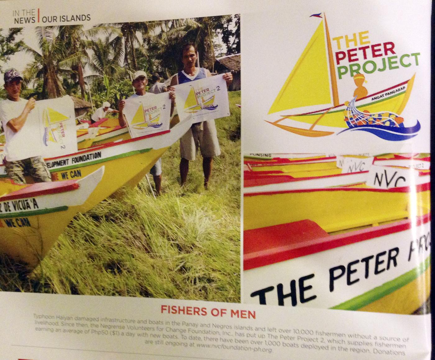 Til nå har the Peter Project 2 gitt 1000 nye båter til tyfonofrene etter Haynan.