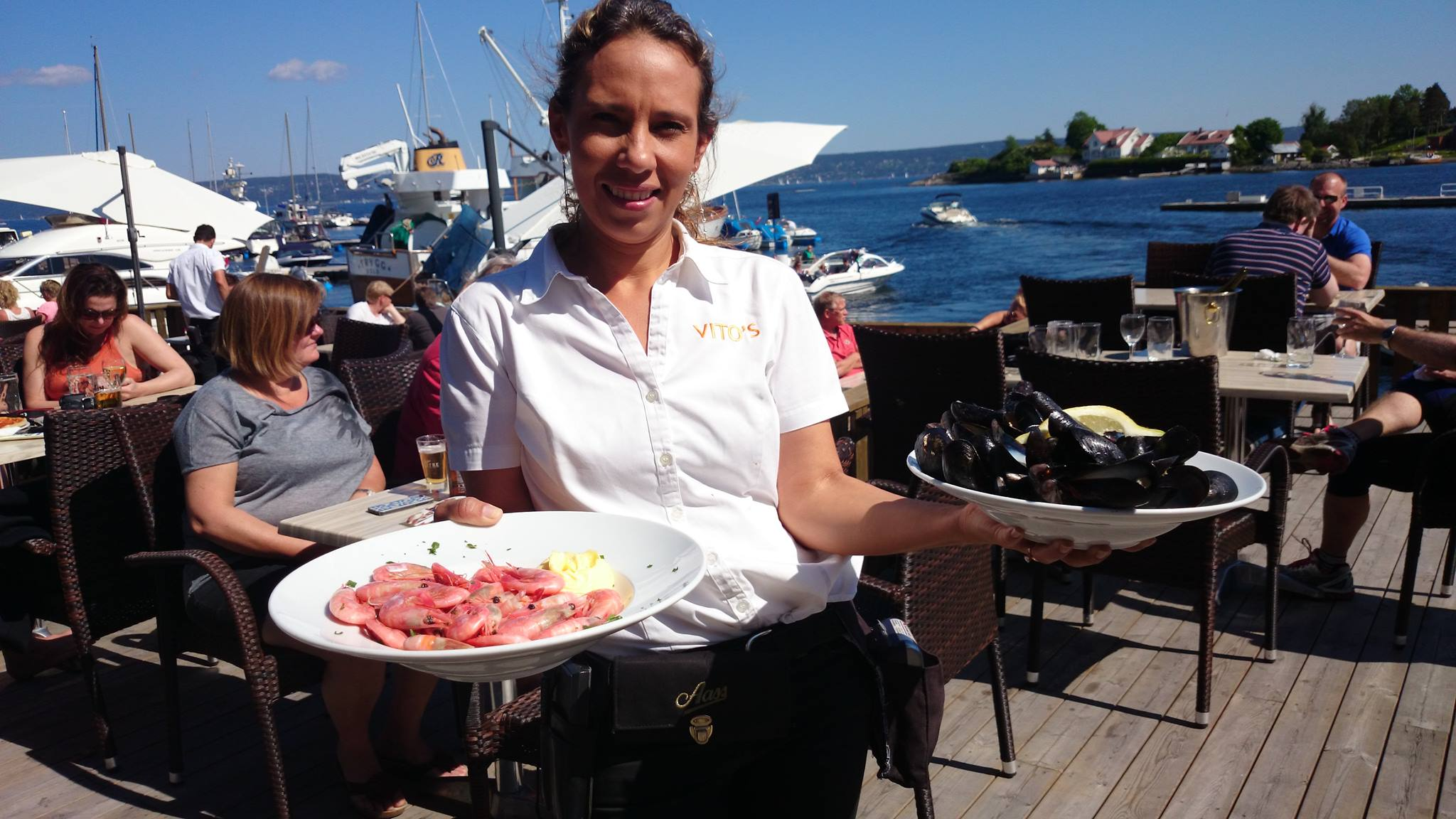På bryggerestauranten Vitos får du servert super sjømat.