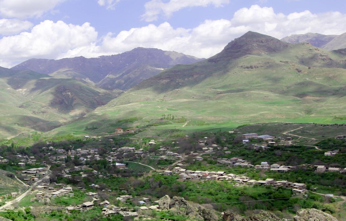 Området rundt Areni.