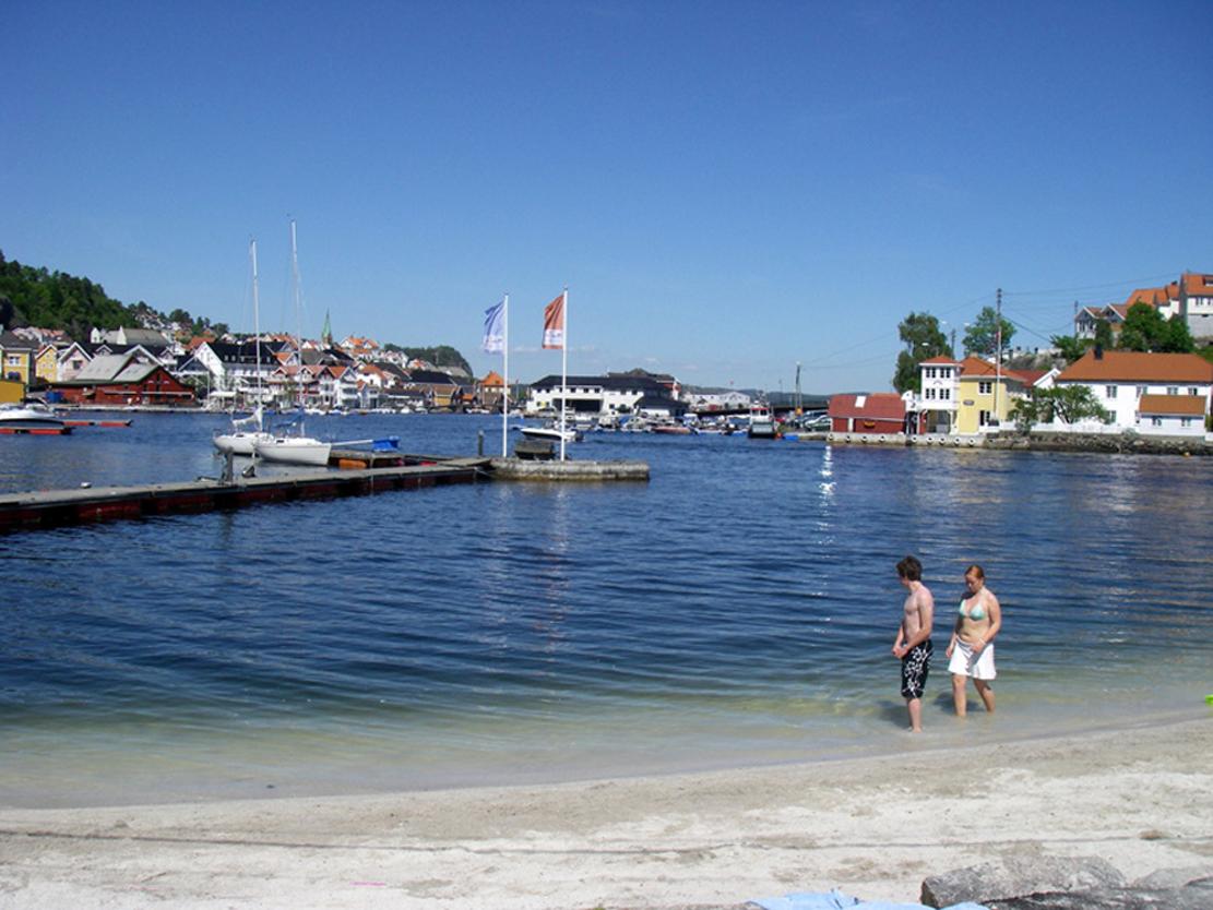 Stranden på Gunnarsholmen.