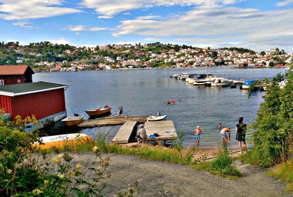 SOMMER: Kragerø fra Tåtøy.