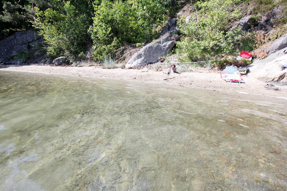 Den lille stranden der jeg lærte å svømme er fortsatt ukjent for mange..