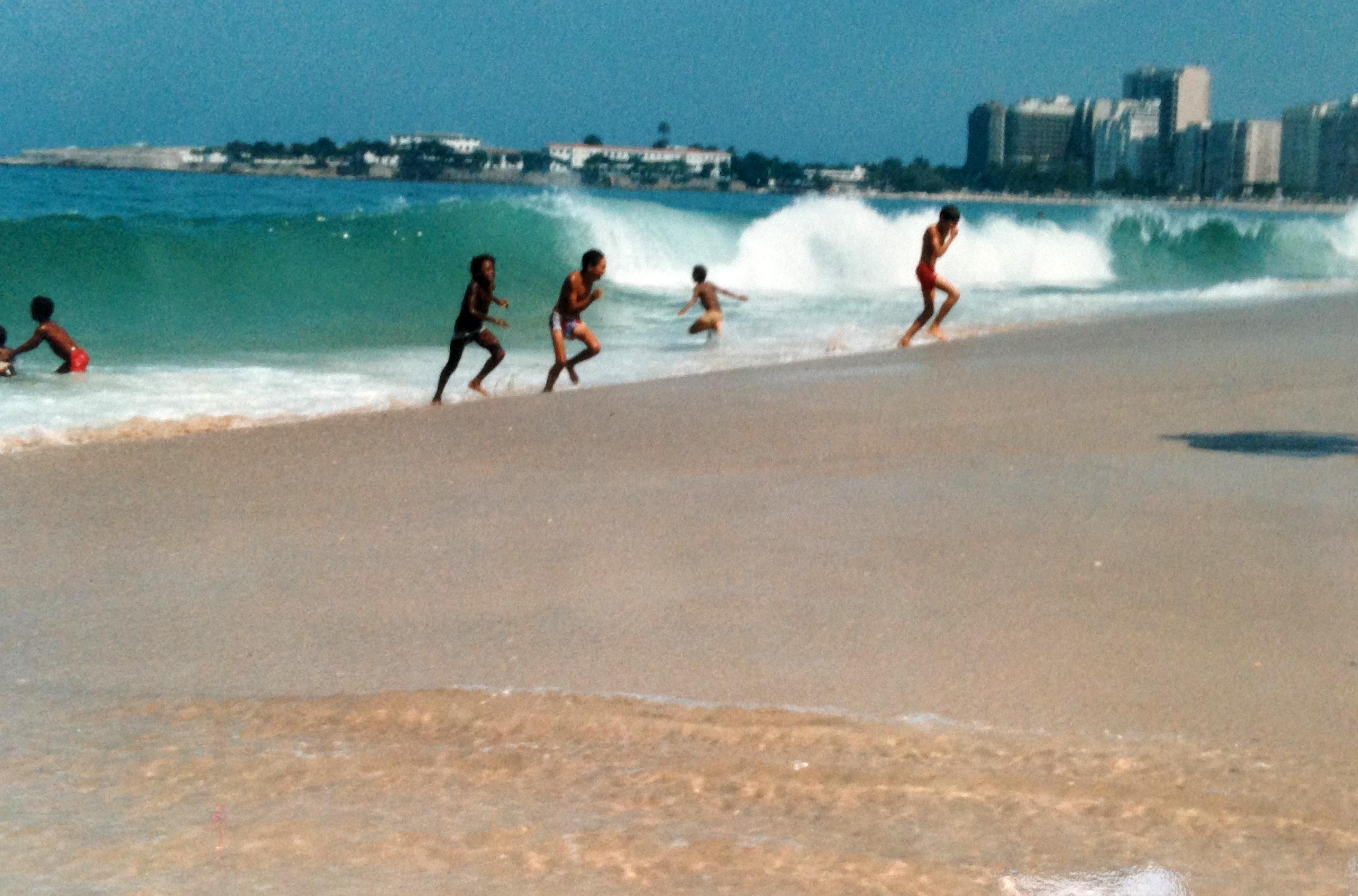 Copacabana er møtested for både turister og lokale. Foto: Linn Krogh Hansen.