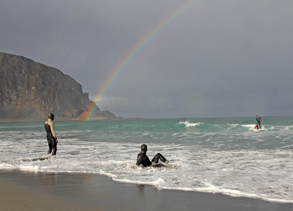SUP & surf i Sandfjord.
