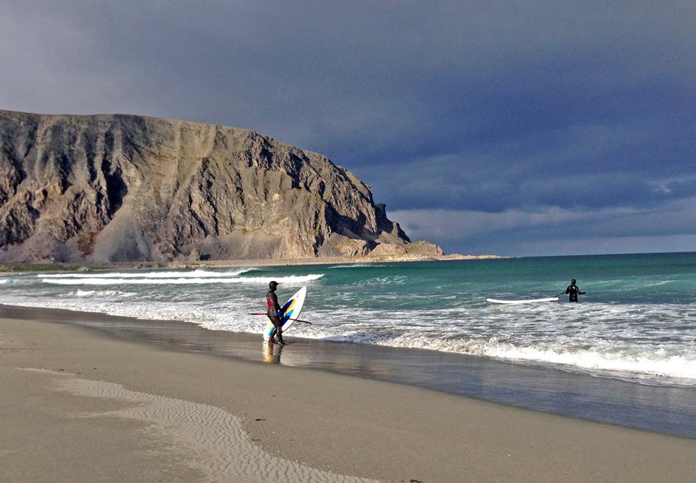 POLARSTRAND: Sandfjorden ligger ca 16 kilometer innenfor Berlevåg.Foto: Linn Krogh Hansen.
