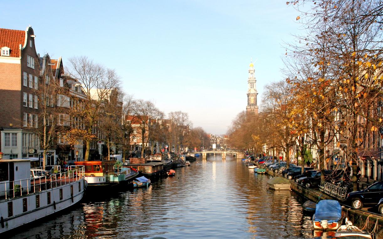 Vinter langs kanalene.