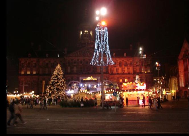 Amsterdam i adventstemning.
