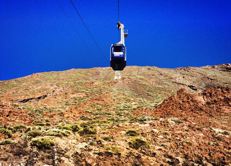 Teide Telegrafico sett fra bakkenivå.