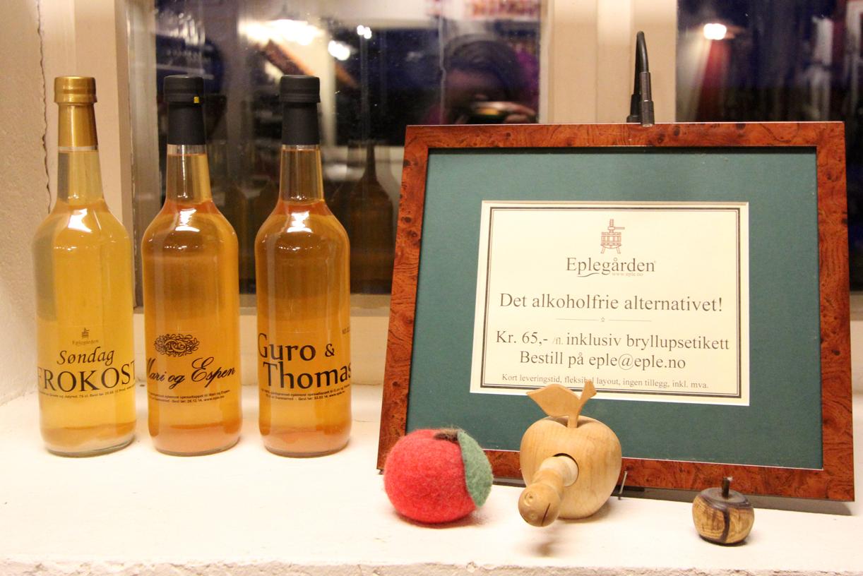 ALKOFRITT: Epler produsert på gården.