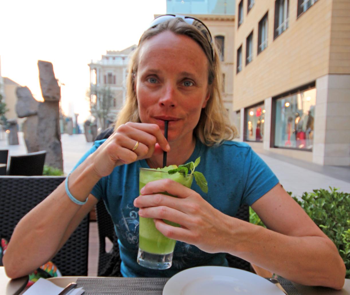 Lime-smoothien på Cafe Balthazar i sentrum er en av de beste jeg har smakt !