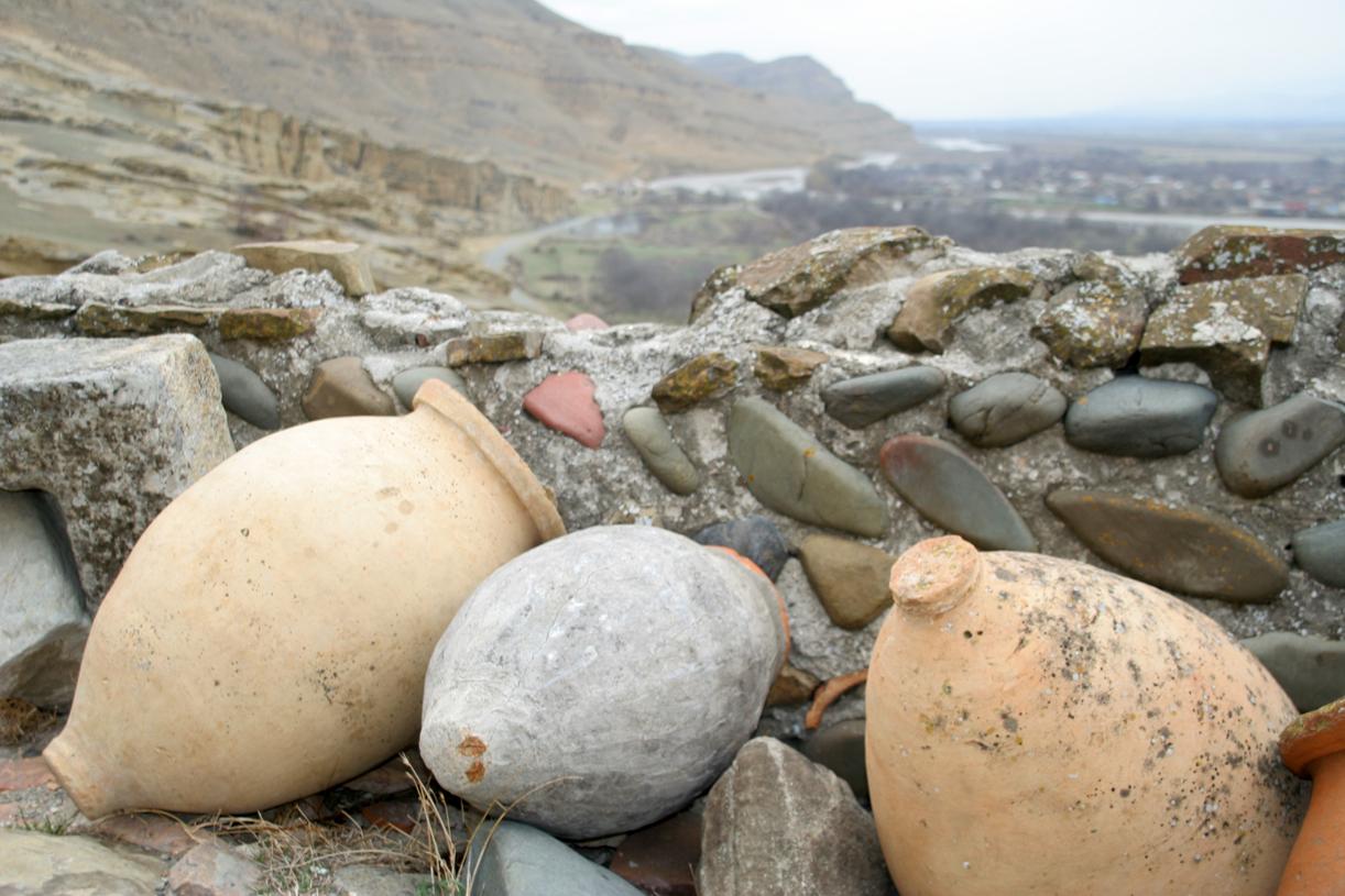 Uplistsikhes huser rester av 5000 år gammel sivilisasjon og vinproduksjon.