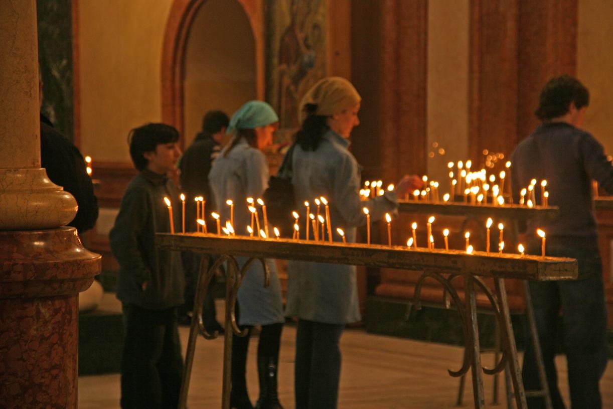 Kirkelivet er en viktig del av georgiernes liv.