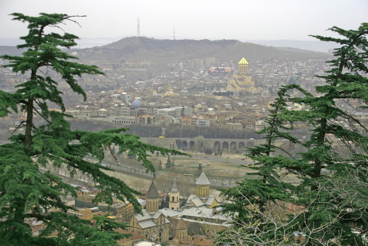 Utsikt over byen fra Narakalifestningen.