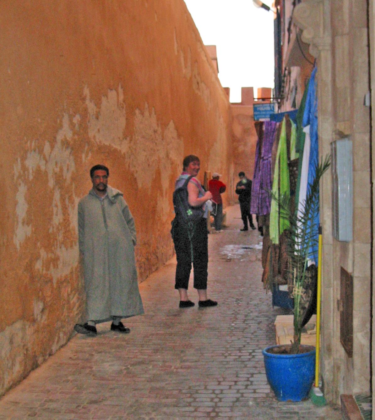 Medianen i Essaouira, hvor vi fikk leie husvære for to døgn.