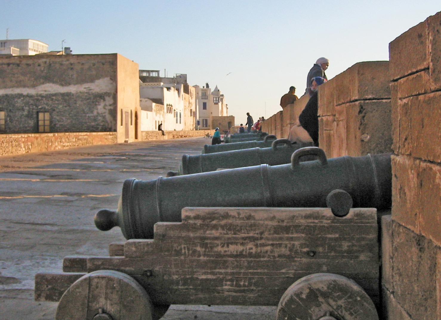 Fortet på utsiden av medinaen i Essaouira.
