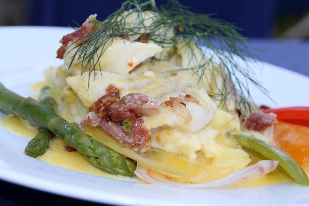 Restauranten byr kortreist mat av høy kvalitet.