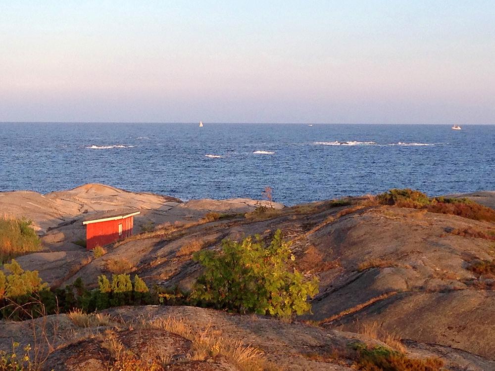 Utsikt fra Portør mot Skagerrak.