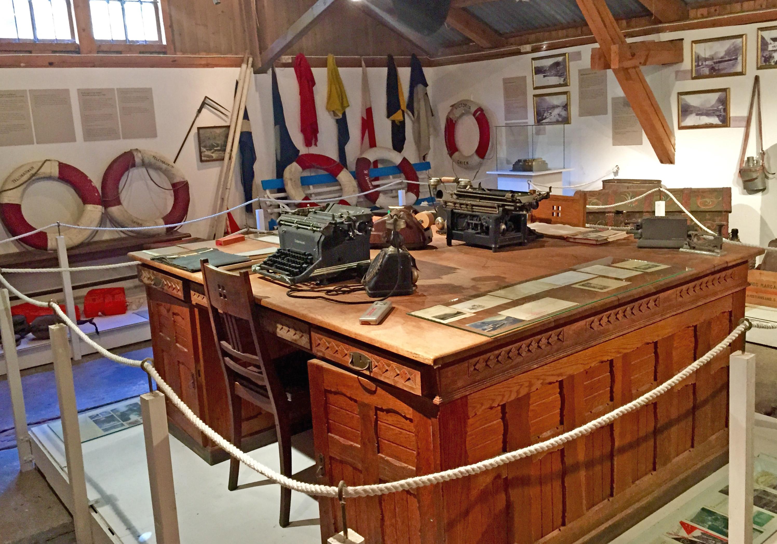 Bryggemuseet har permanent utstilling med Telemarkskanalens historie.