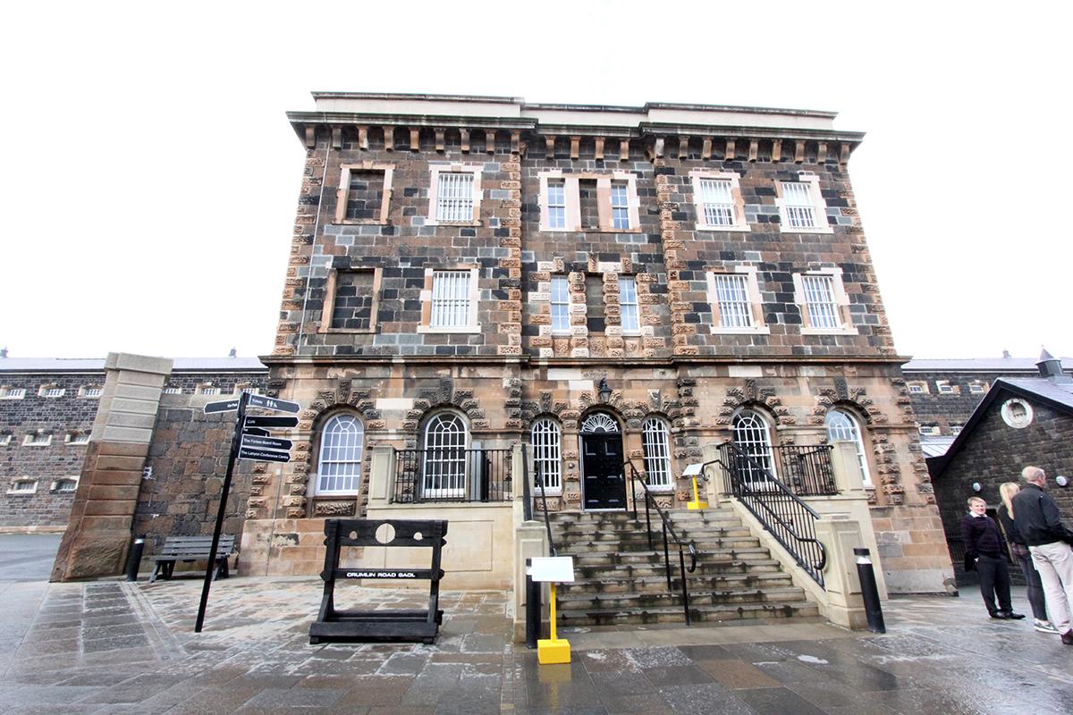 Crumlin Raod Gaol er at av landest mest beryktede fengsler, som nå er museum.