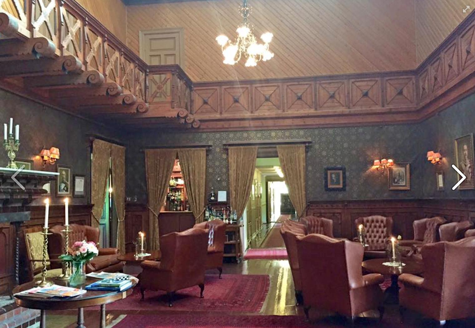 Lobbyen i 1800-tallsstil.