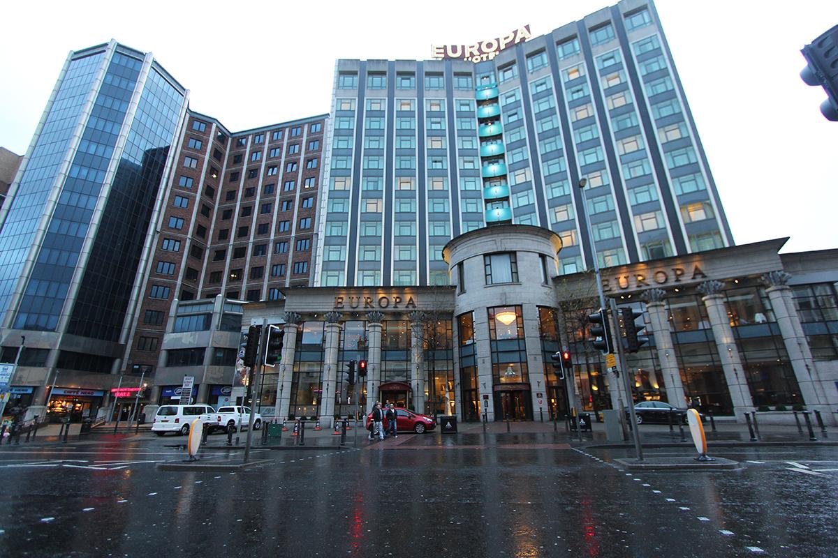 Hotel Europa; en gang verdens mest bombede, og nå et av Belfast mest populære luksushotel.