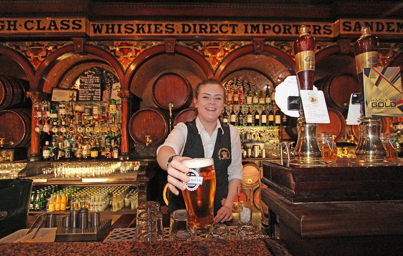 The Crown Liquor bar.