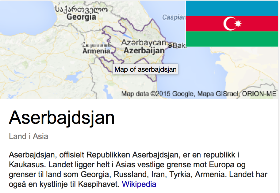 """""""Et land i Asia"""" sier Wikipedia på mitt første googlesøk.."""
