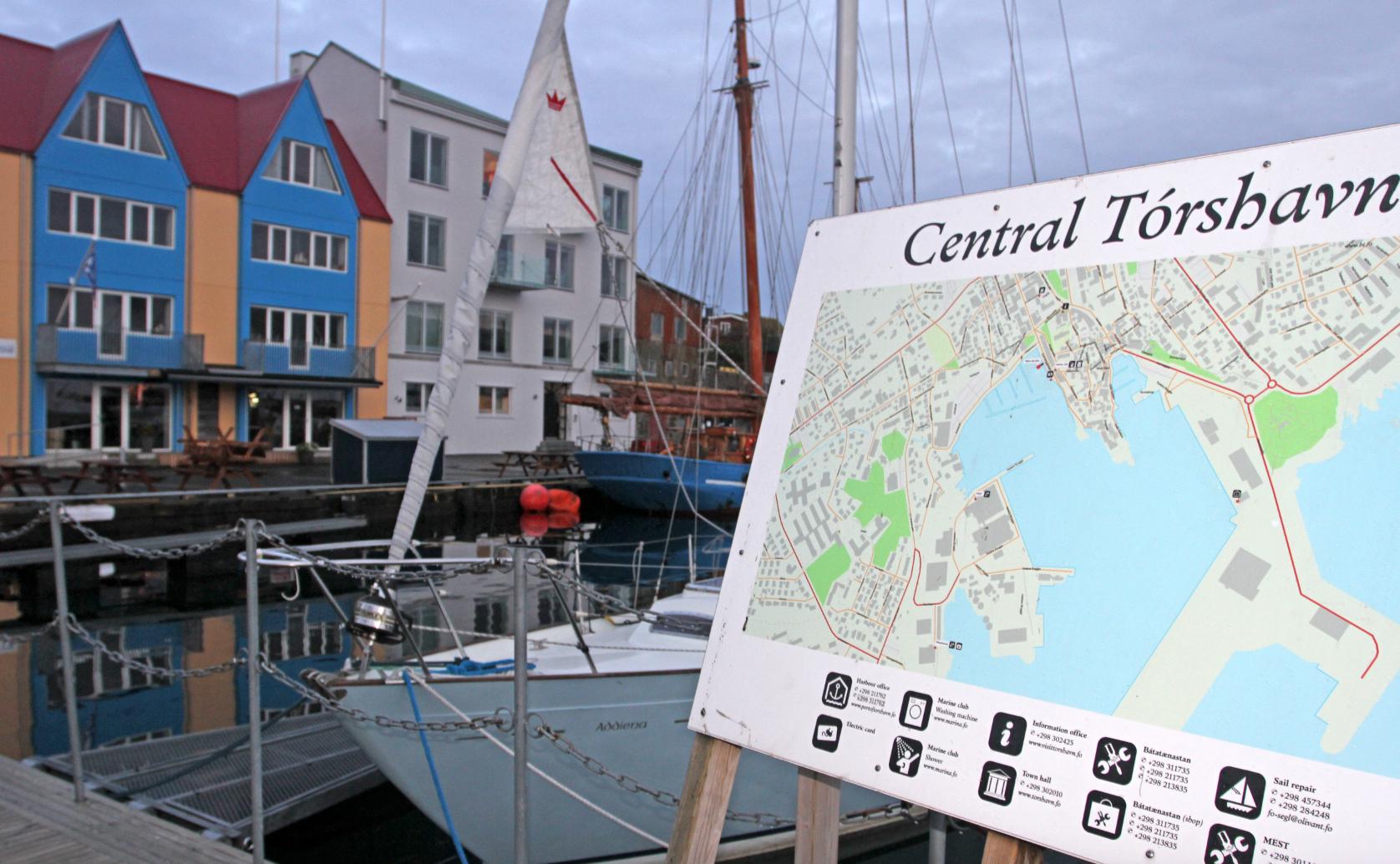 Gjestehavnen i Torshavn.