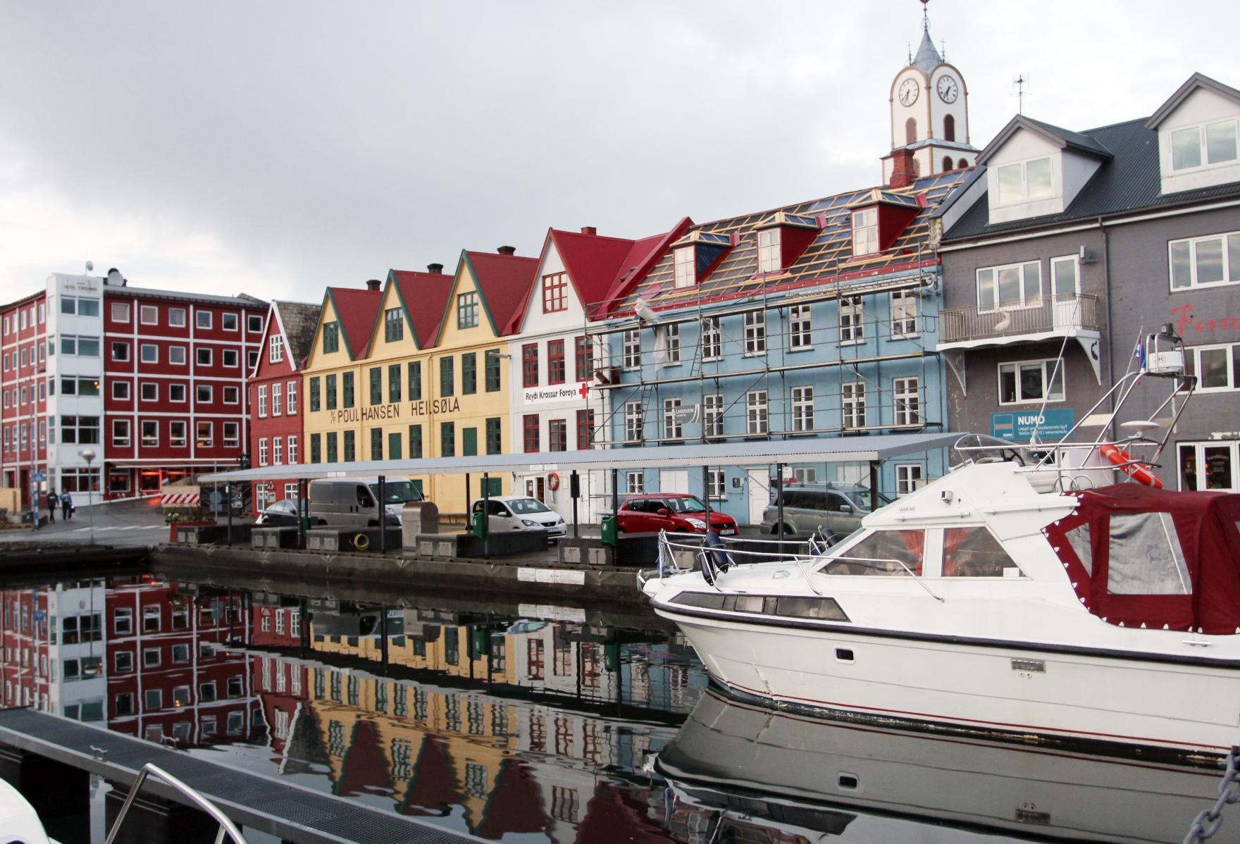 Torshavn gjestehavn i oktober.