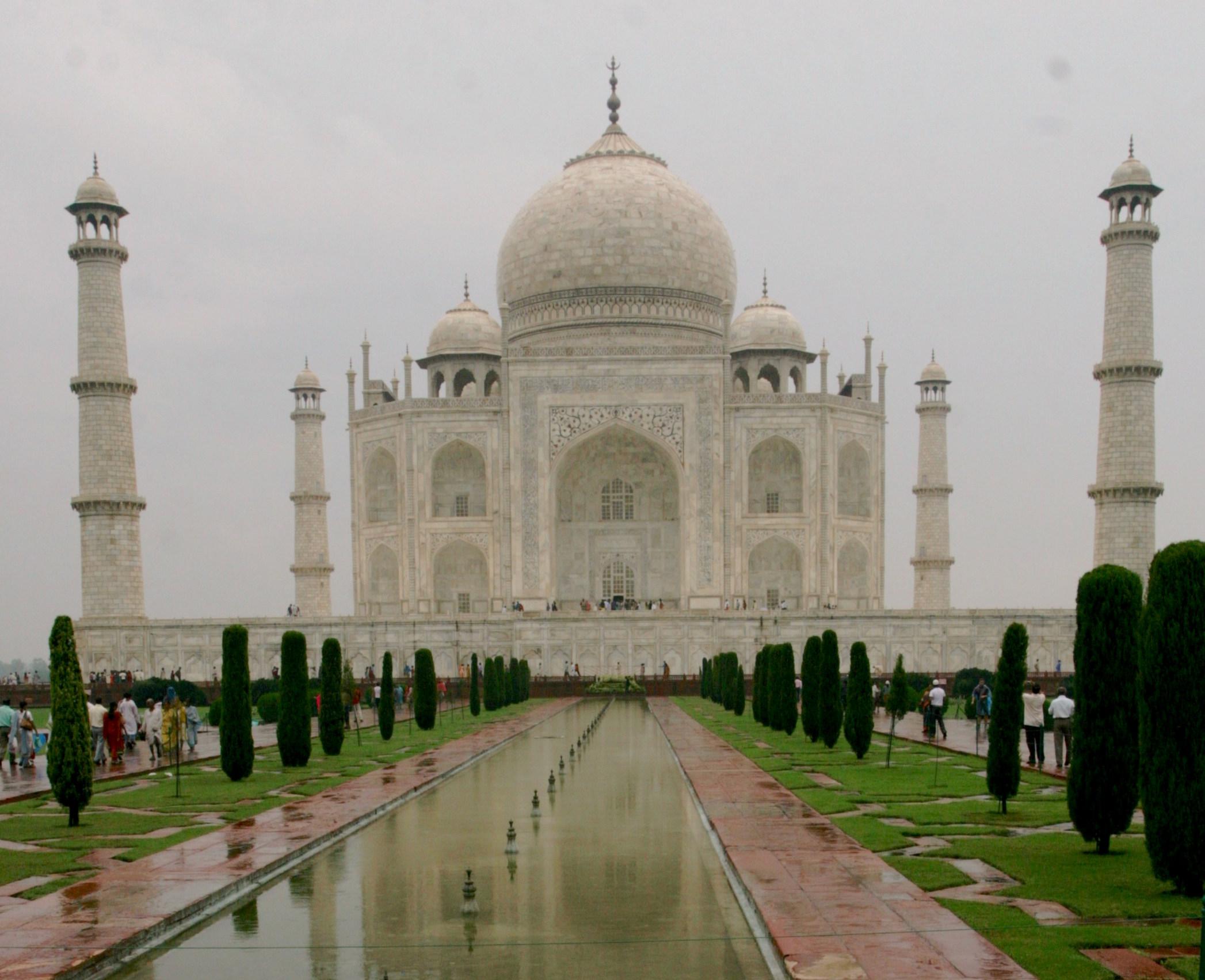 Taj Mahal en rolig morgen.