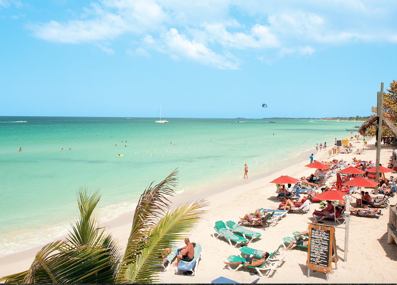 Seven Miles Beachi i Negril. helt vest på Jamaica. Foto: Ving.