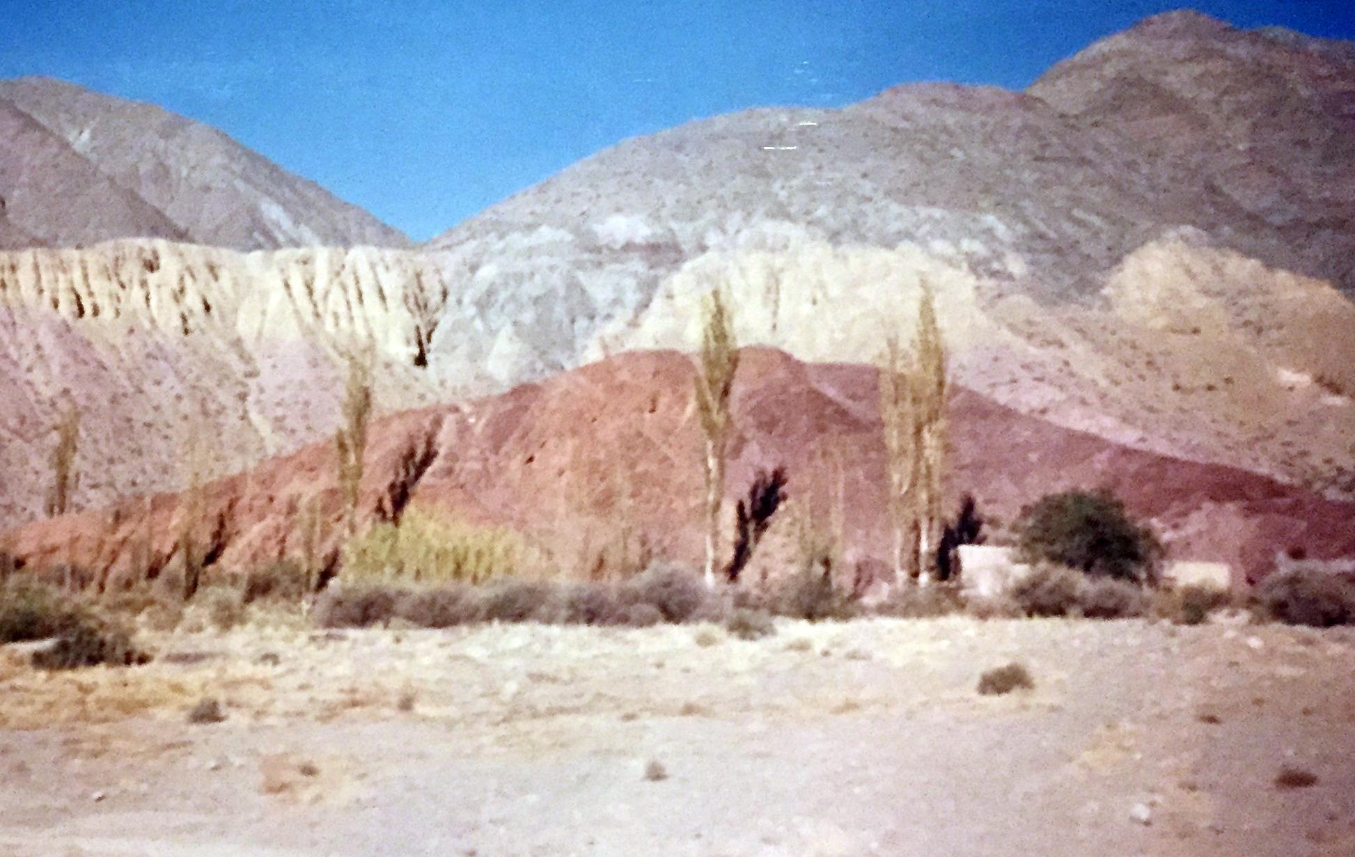 Røde fjellene i argentina