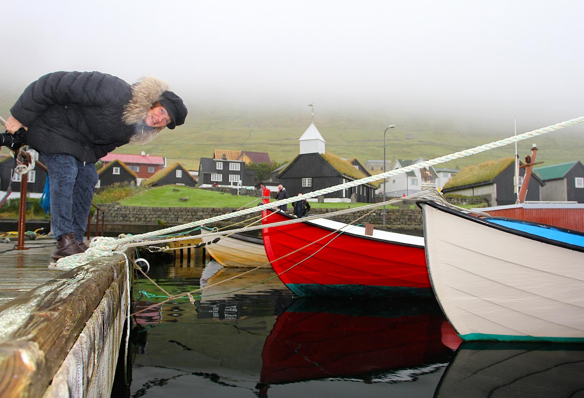 Havnen i bygda Gøta, som var hjembygd til Tróndur, en hedensk vikinghøvding som styrte hele Færøyene i en periode.