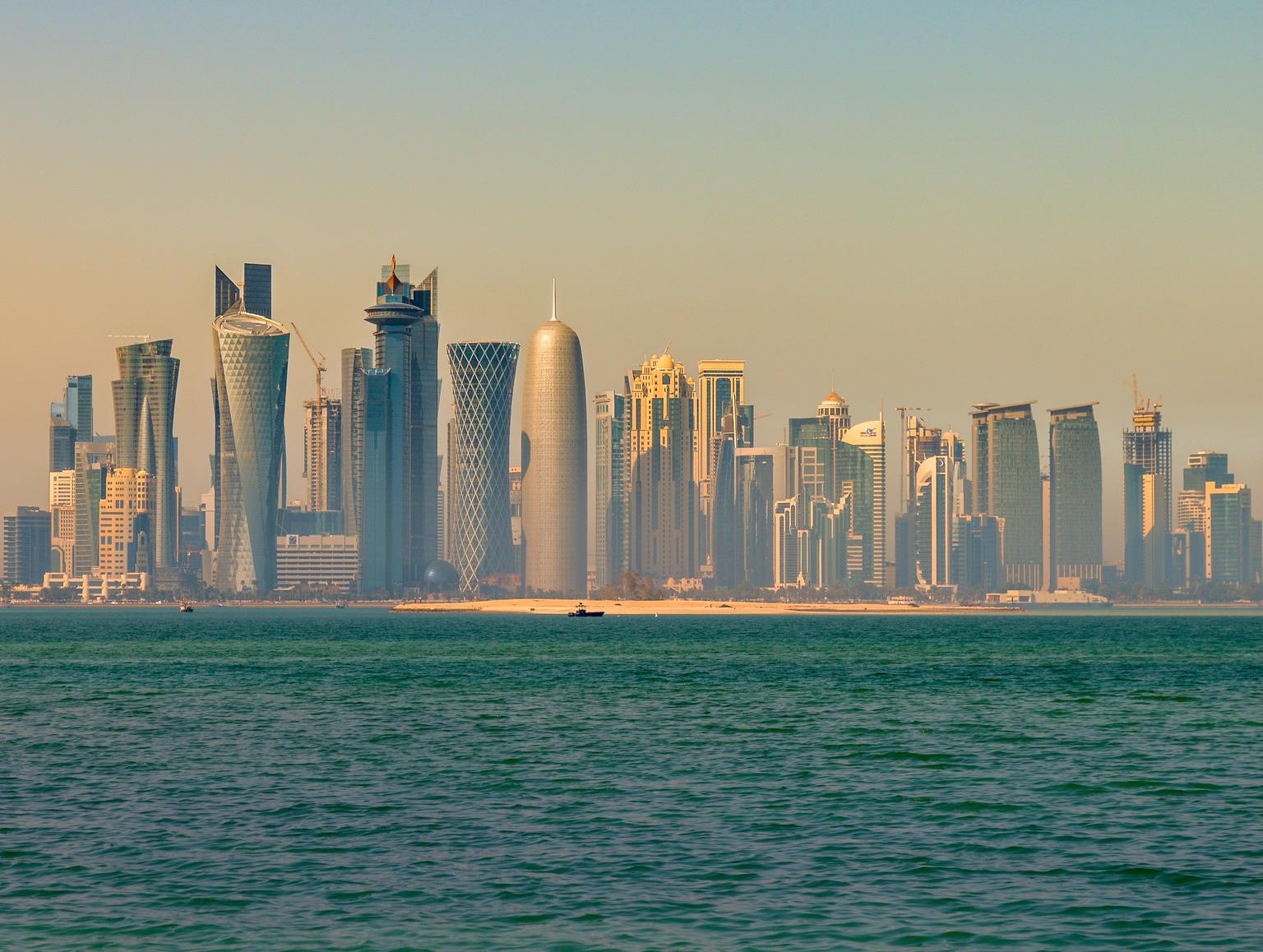 Doha i dagslys, noe vi ikke fikk se. Bildet er lånt fra Wikipedia og merket med tillatelse for gjenbruk.