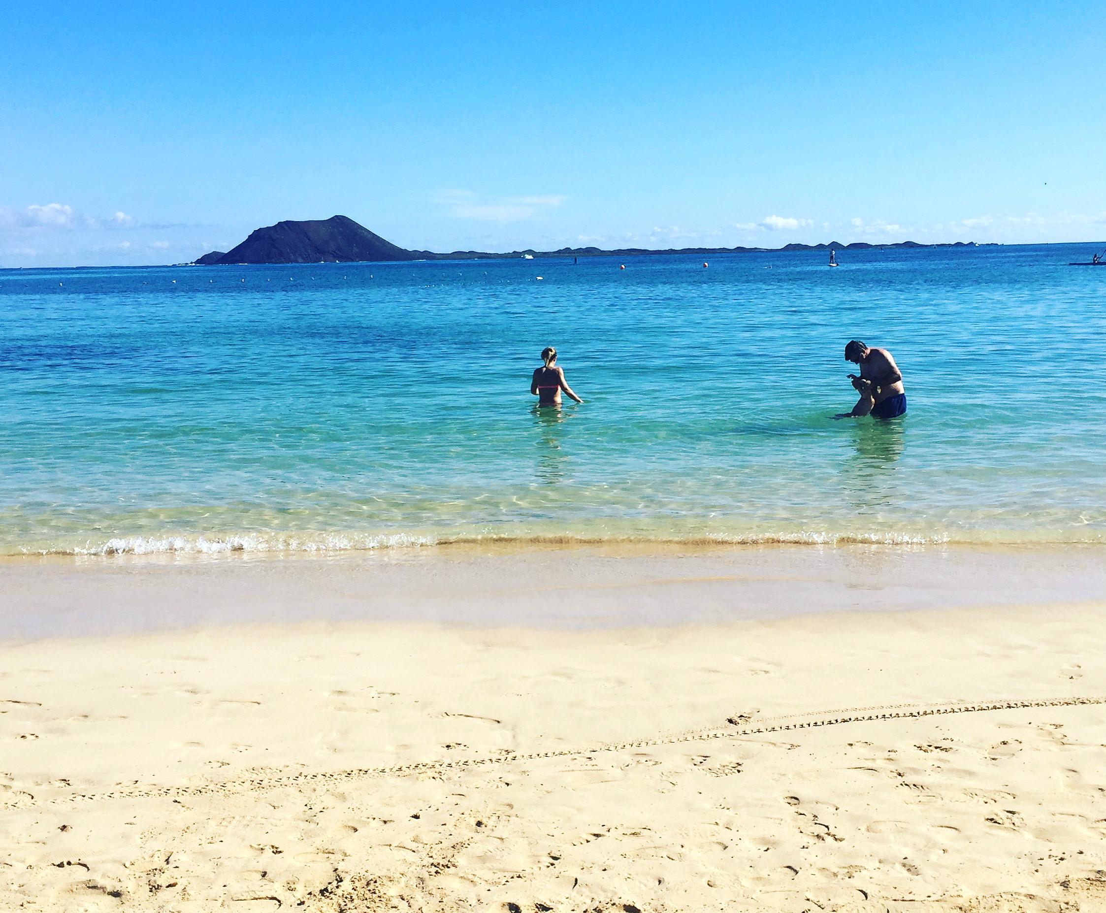Både været og stranden i Corralejo levde opp til kanaridrømmen.