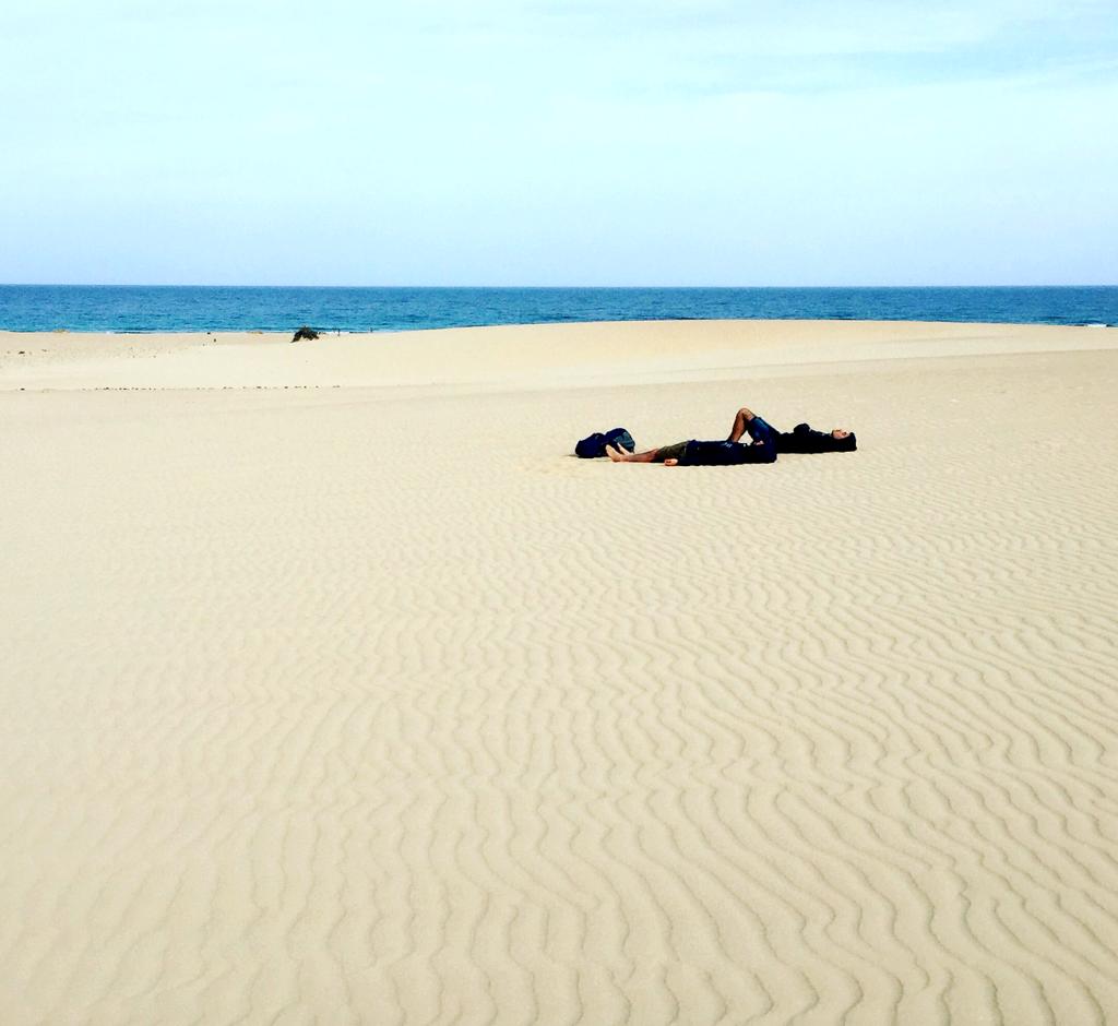 Fuerteventuras sandyner i Las Dunas.