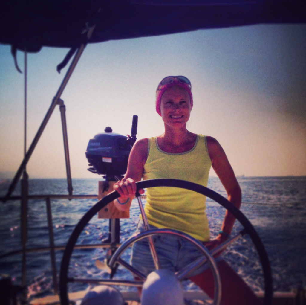 Sailing into Athens after the Blue Cup regatta, 2013