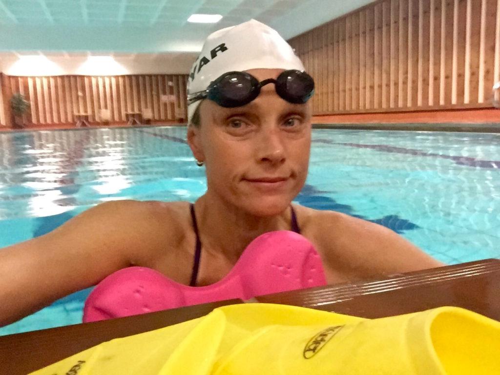 KVELDSØKT: Jeg hadde bassenget for seg selv den første kvelden.