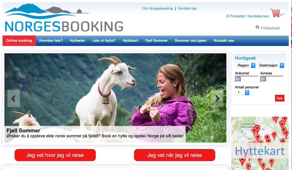 PRAKTISK: Etter å ha pløyd gjennom flotte bildereportasjer, er Norgesbooking-appen super for enkel og tilrettelagt booking utfra egne kriterier.
