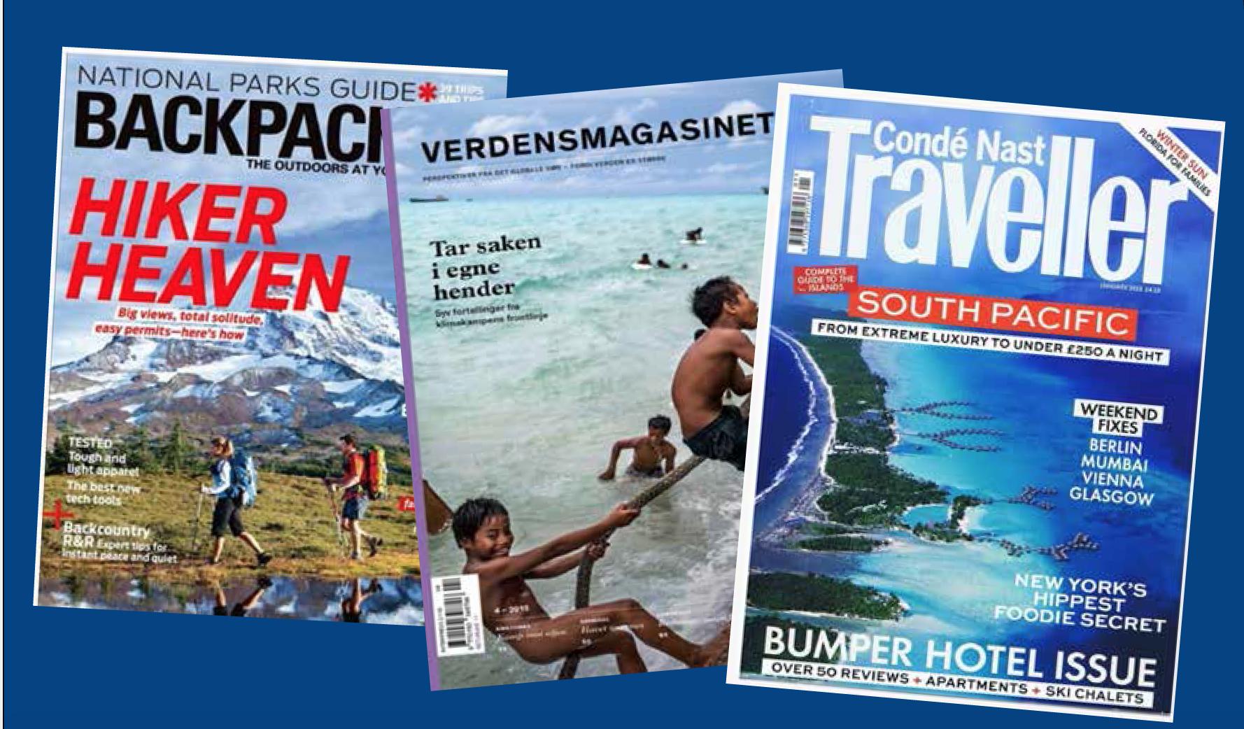 VARIASJON: Tre forskjellige målgrupper, med eksotiske reisemål som fellesnevner.