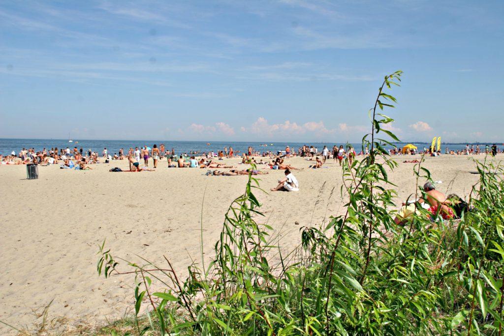 BADEPARADIS: Standen i Sopot er fire kilometer lang.