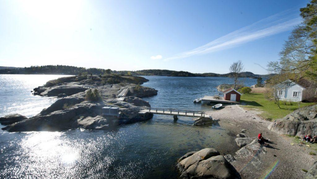 FAMILIEPARADIS: Sildevika i Telemark Foto: DNT.