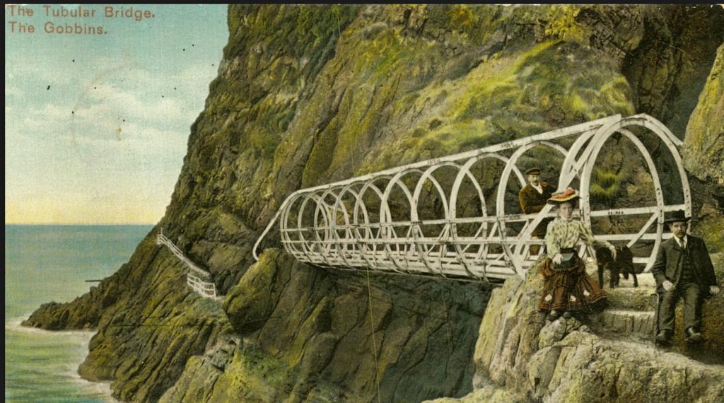 MANNEN BAK: Berkeley Deane Wise og hans kone på tur i The Gobbin Path like etter 1902. Photo/illustrasjon: wikipedia
